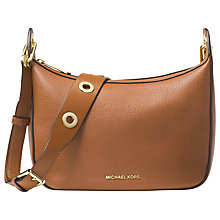 Buy MICHAEL Michael Kors Raven Leather Messenger Bag Online at johnlewis.com