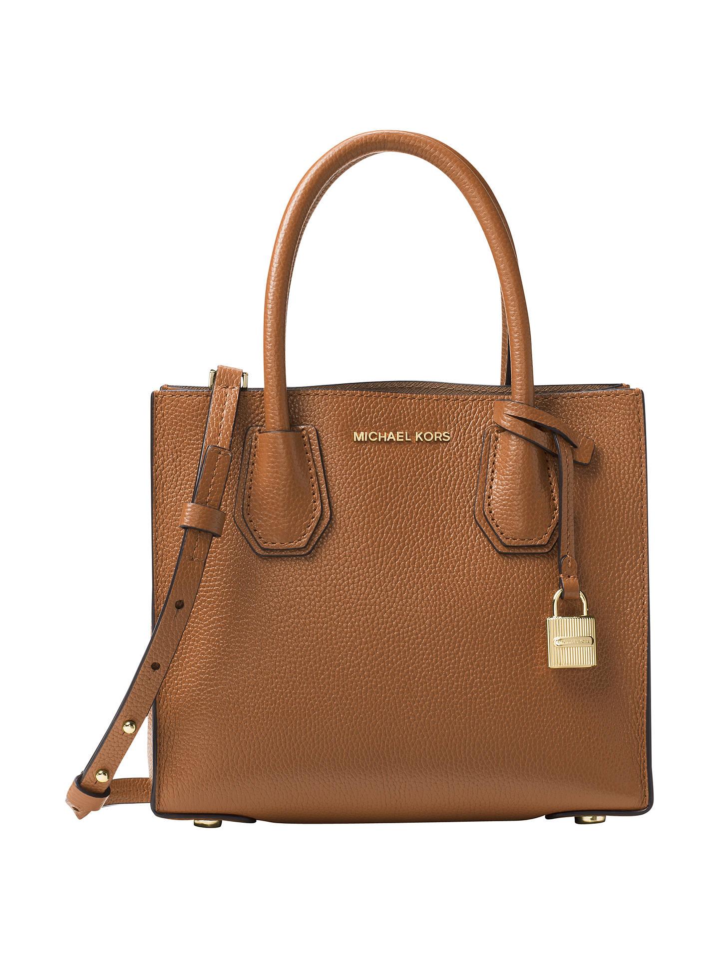 33a7ac0b6622 Buy MICHAEL Michael Kors Mercer Leather Cross Body Bag, Luggage Online at  johnlewis.com ...