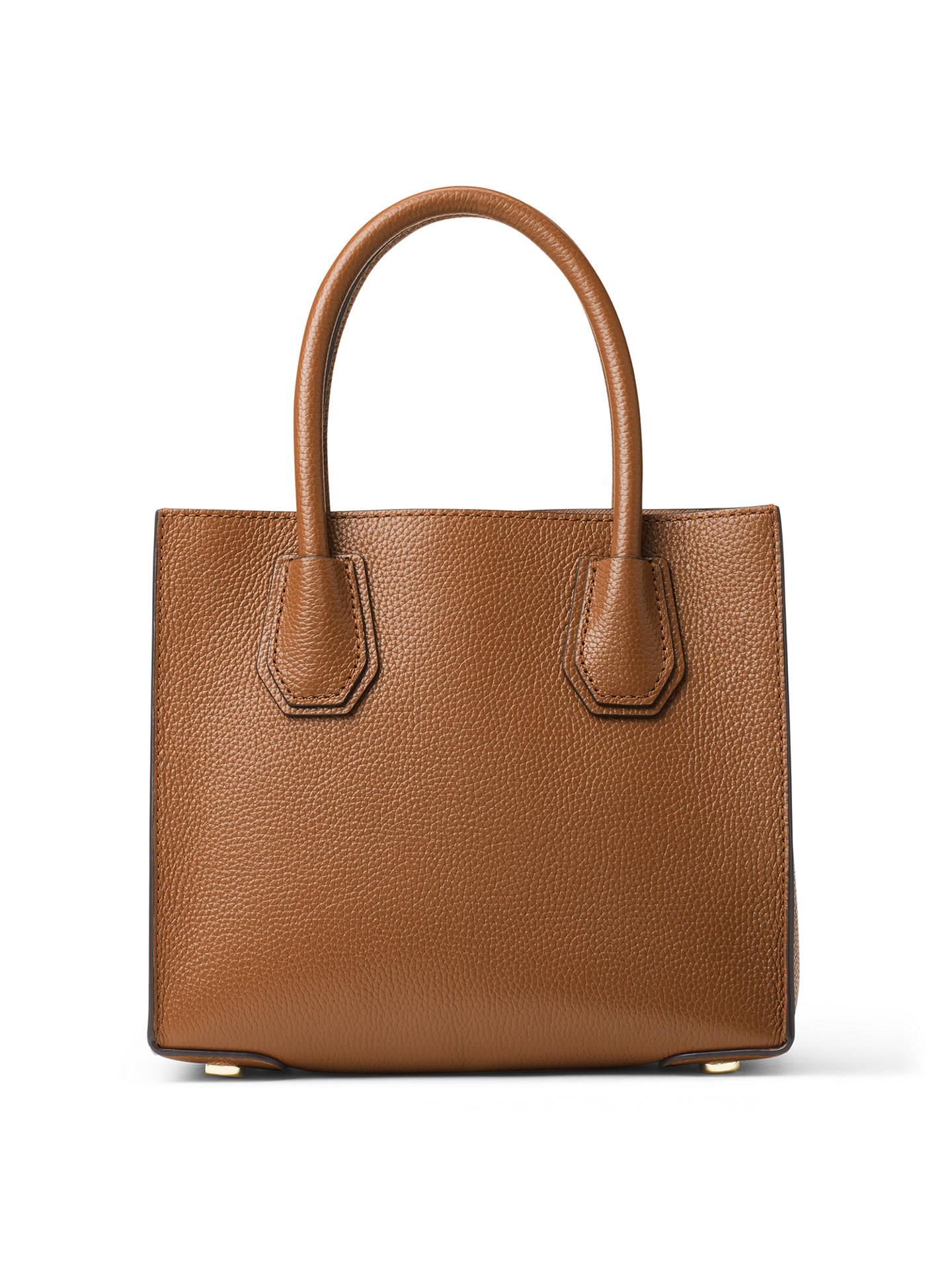 ddbd9636e964 ... Buy MICHAEL Michael Kors Mercer Leather Cross Body Bag, Luggage Online  at johnlewis.com ...