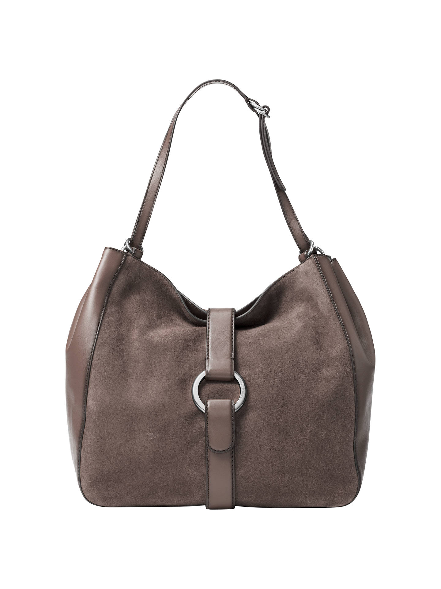 373f04afb584cc Buy MICHAEL Michael Kors Quincy Large Suede And Leather Shoulder Bag,  Cinder Online at johnlewis ...