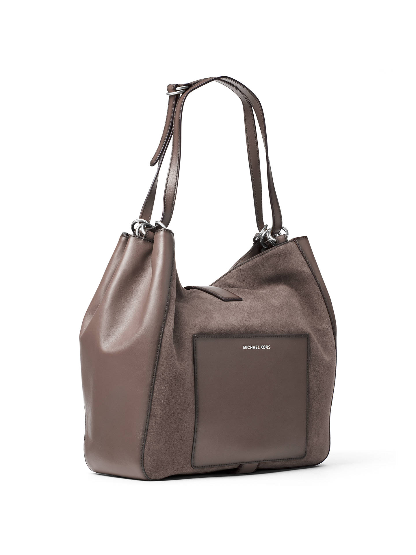 d8fa889d39b5 ... Buy MICHAEL Michael Kors Quincy Large Suede And Leather Shoulder Bag