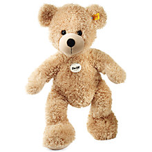 Buy Steiff Fynn Teddy Bear, Beige, 40cm Online at johnlewis.com