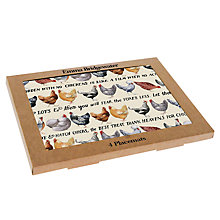 Buy Emma Bridgewater Chicken Placemats, Set of 4 Online at johnlewis.com