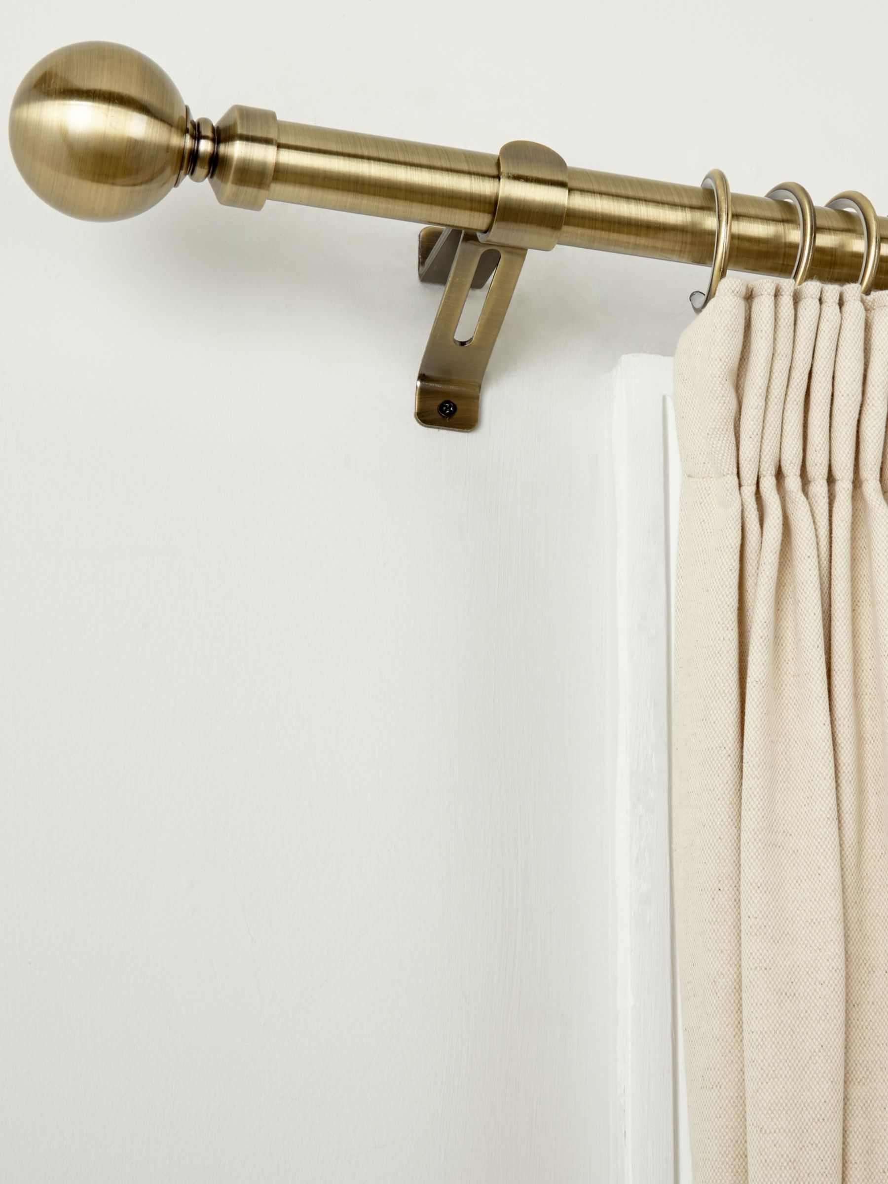 Swish Elements Bay Window Curtain Pole Kit L400cm X Dia 28mm Antique Brass