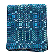 Buy Melin Tregwynt Knot Garden Throw, Blue Online at johnlewis.com