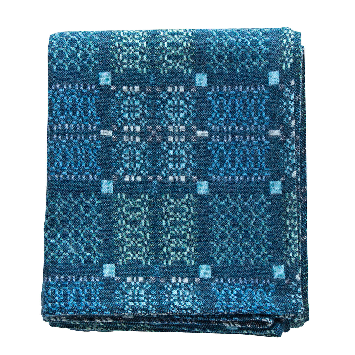 BuyMelin Tregwynt Knot Garden Throw, Blue Online at johnlewis.com