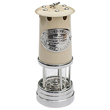 Buy JD Burford Large Miners Oil Lamp, Cream Online at johnlewis.com