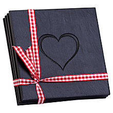 Buy Grasi Engraved Heart Welsh Slate Coasters, Set of 4 Online at johnlewis.com