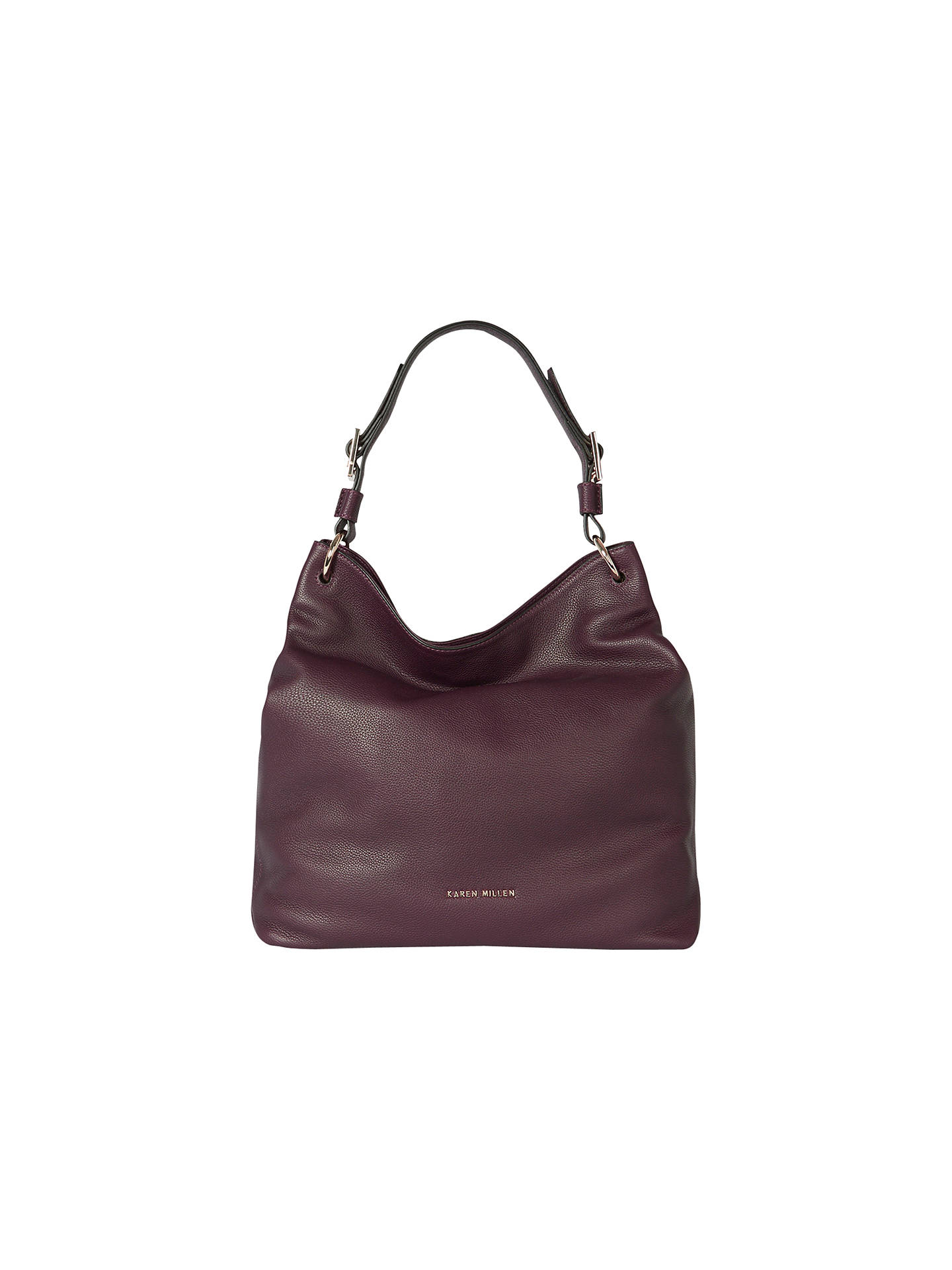 Karen Millen Soft Leather Sling Bag Aubergine Online At Johnlewis