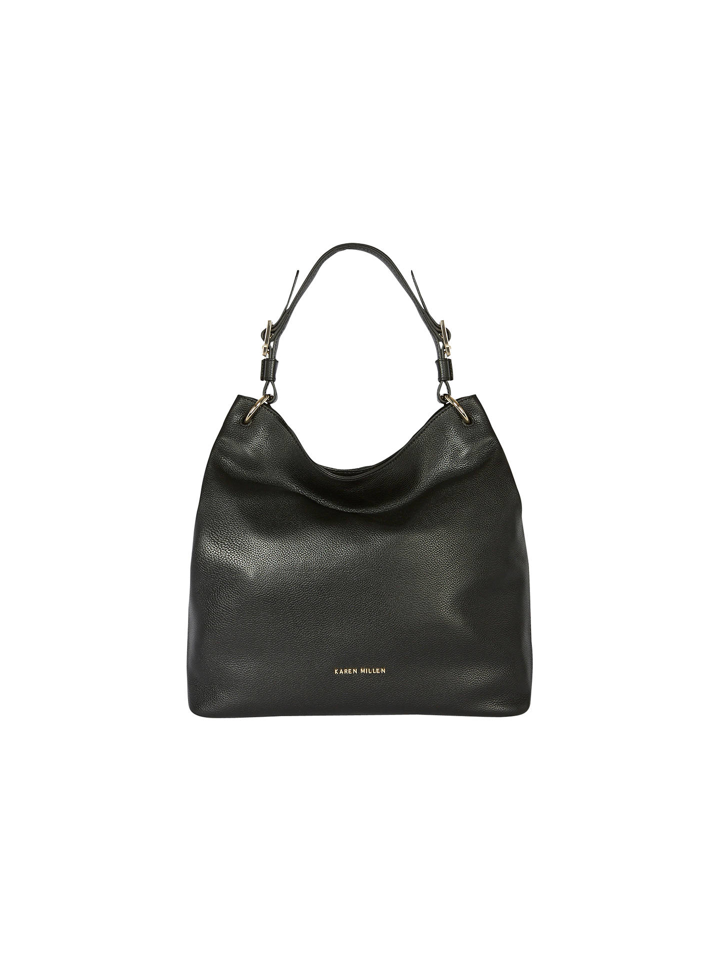 83da66d22c Buy Karen Millen Soft Leather Sling Bag, Black Online at johnlewis.com ...