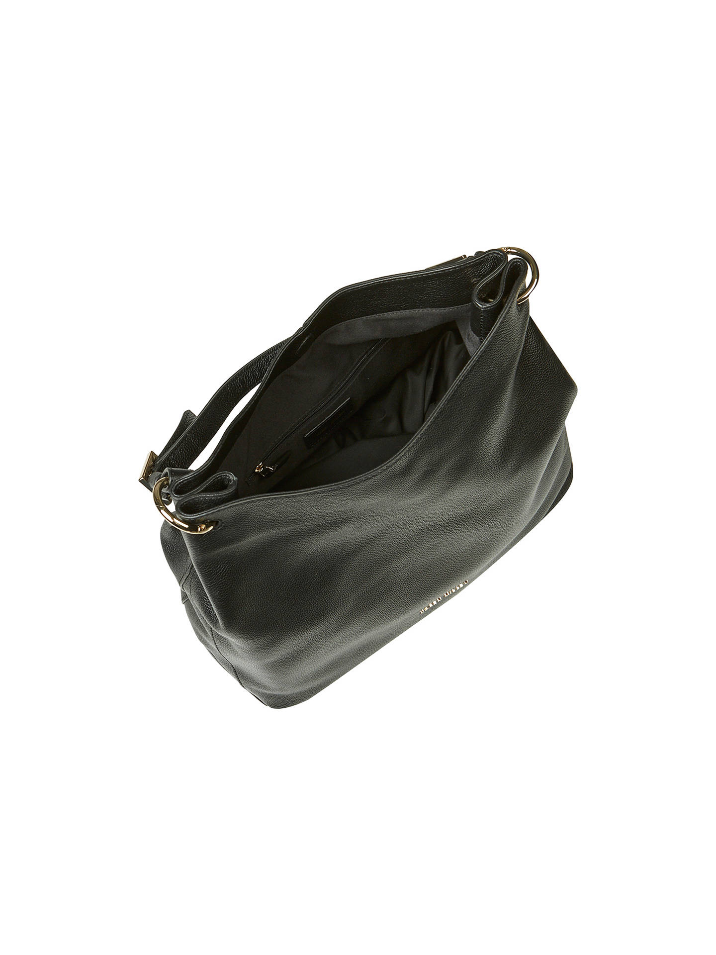 28279453e1 ... Buy Karen Millen Soft Leather Sling Bag, Black Online at johnlewis.com  ...