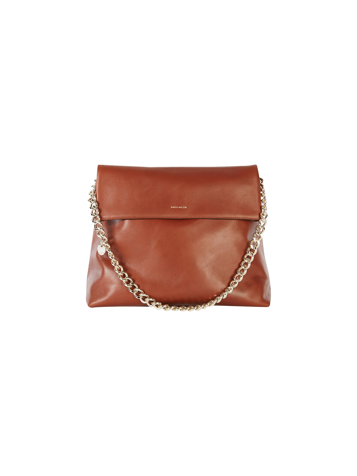 cda5263e9e Buy Karen Millen Leather Oversize Regent Shoulder Bag, Tan Online at  johnlewis.com ...