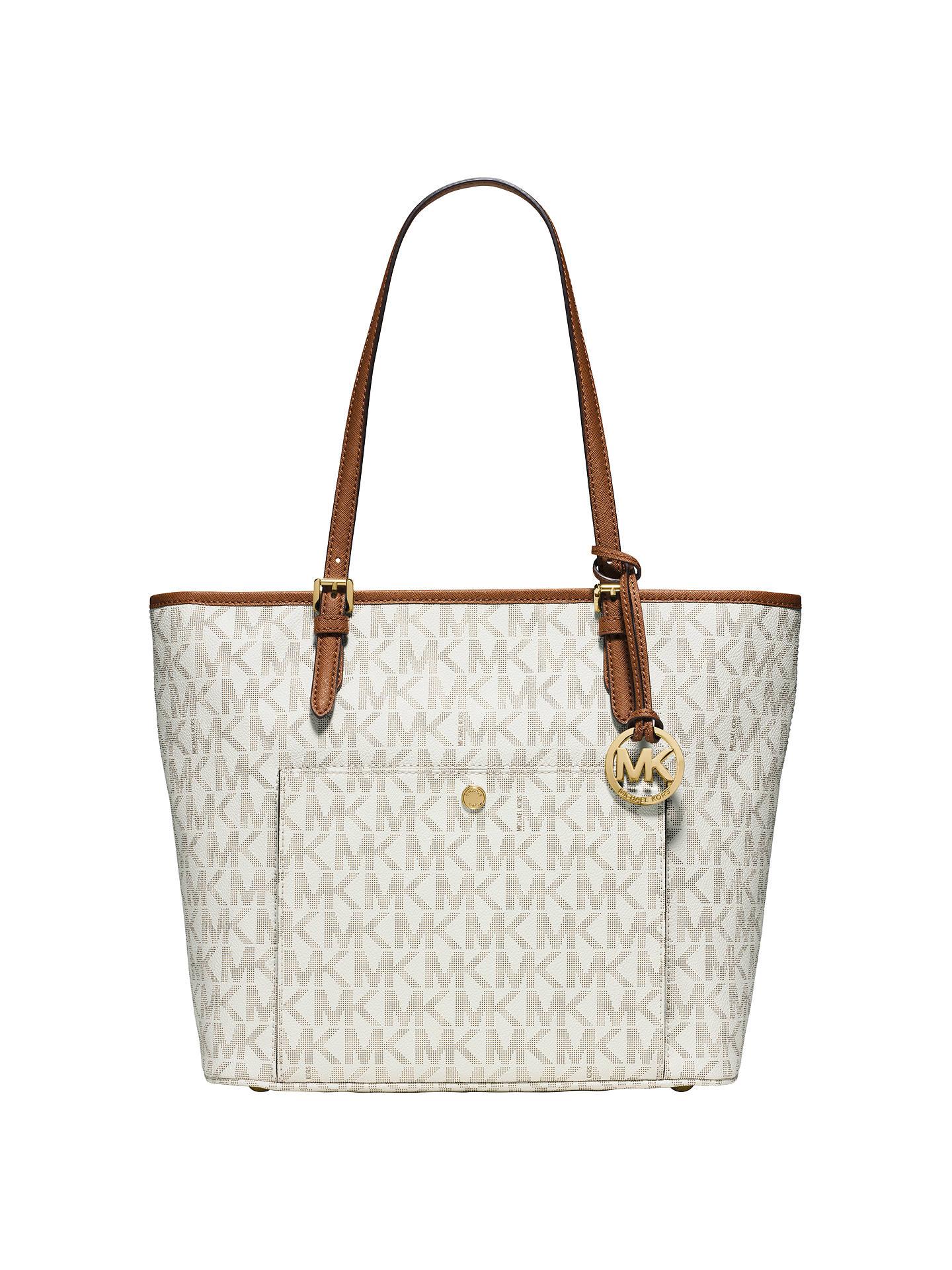 579614f48eb379 Buy MICHAEL Michael Kors Jet Set Medium Snap Pocket Tote Bag, Vanilla  Online at johnlewis ...
