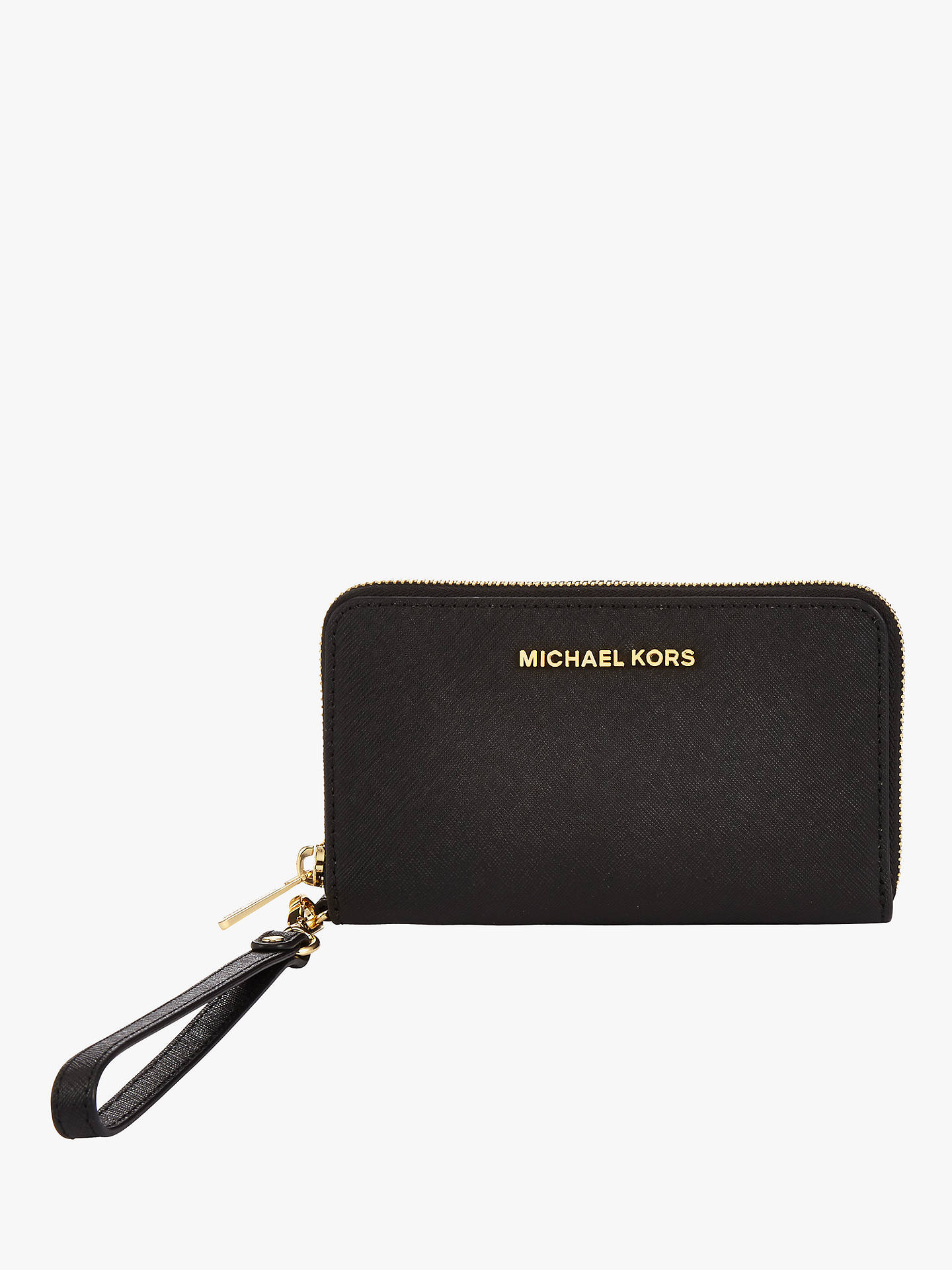 08f786986026 Buy MICHAEL Michael Kors Jet Set Leather Travel iPhone 6 Case Purse, Black  Online at ...