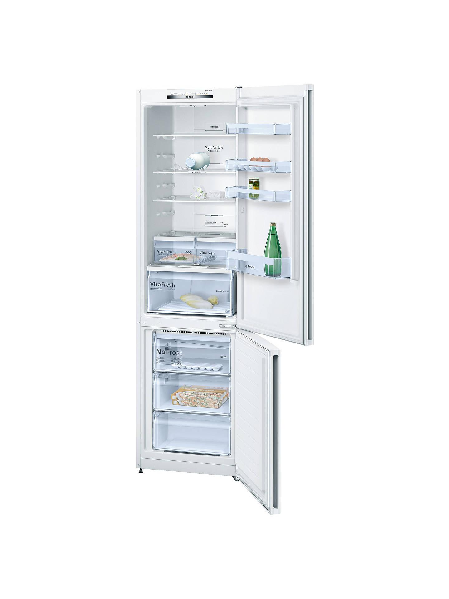 Bosch KGN39VW35G Freestanding Fridge Freezer, A++ Energy Rating, 60 cm  Wide, White