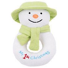 Buy The Snowman Soft Ring Rattle Online at johnlewis.com