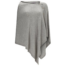 Buy Phase Eight Cashmere Blend Button Wrap, Light Grey Online at johnlewis.com