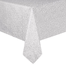 Buy Design Project by John Lewis No.098 Tablecloth, White/Grey Online at johnlewis.com