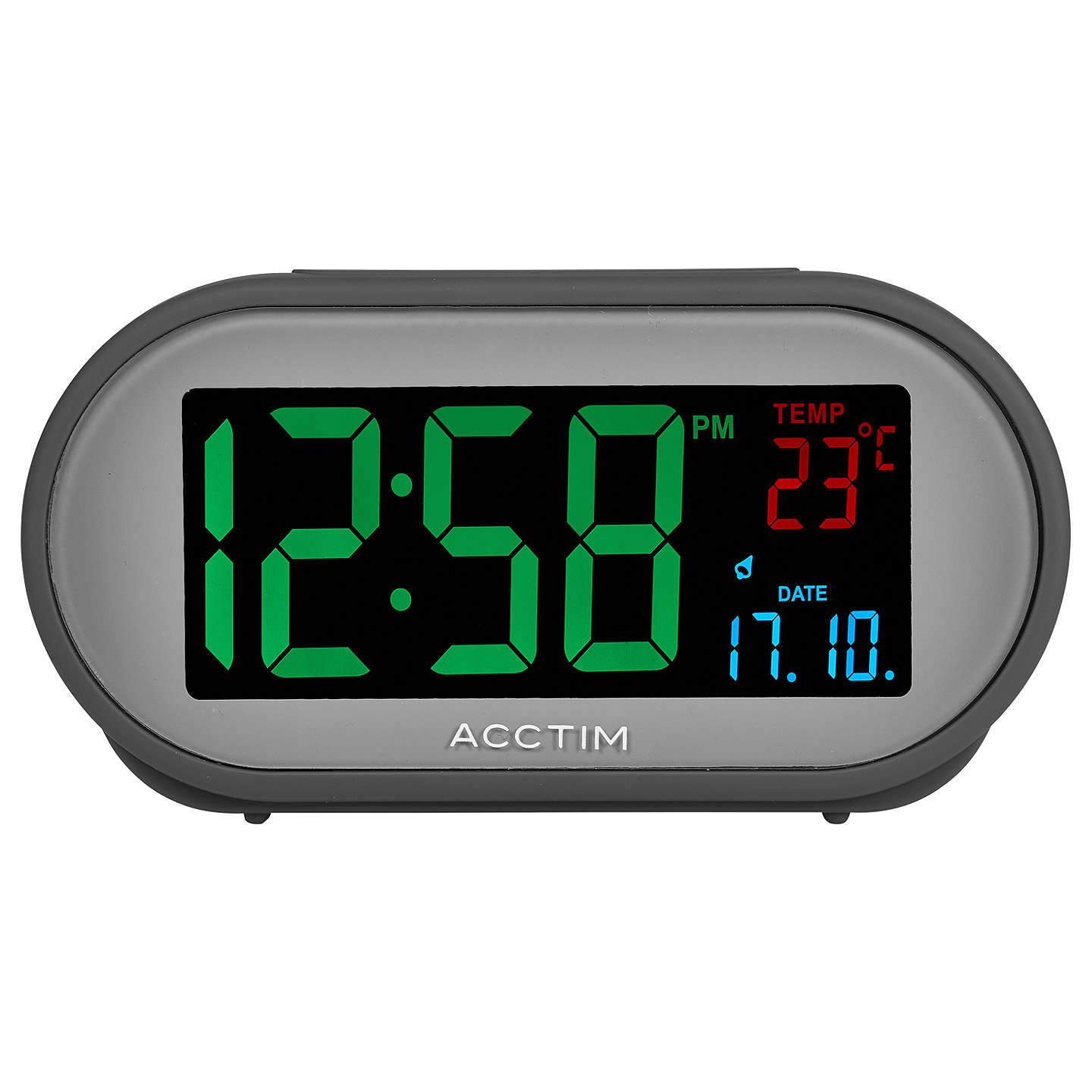 BuyAcctim Grey Smart Connector USB LCD Alarm Clock Online At Johnlewis