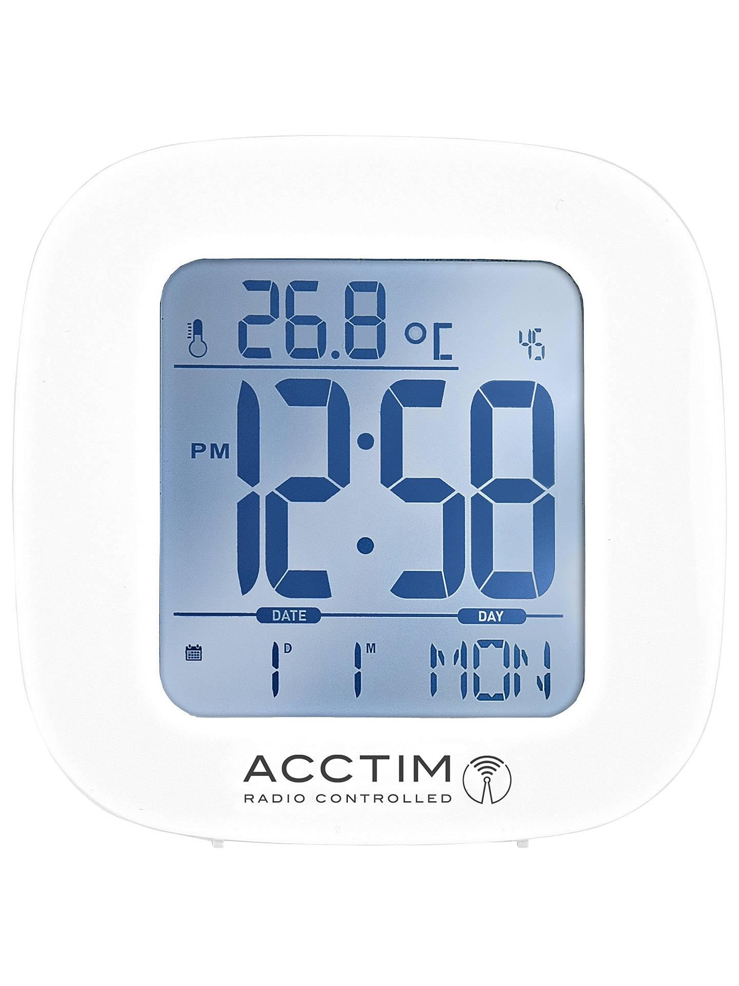 Acctim Sandby Radio Controlled Alarm Clock White At John Lewis