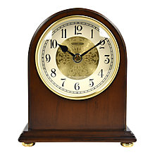 Buy London Clock Company Arch Top Mantel Solid Wood Clock, Walnut Online at johnlewis.com