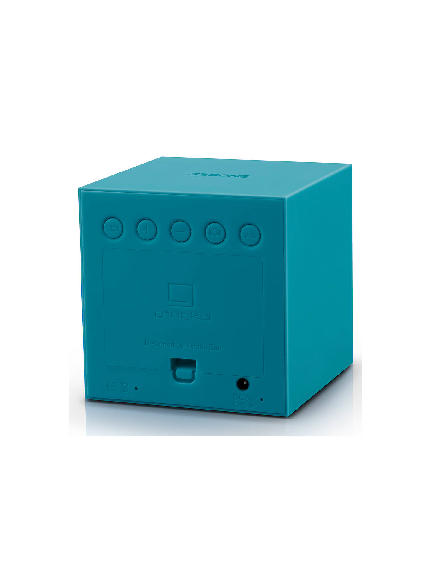 Buy Gingko Soft Touch Click Clock Alarm Clock, Teal Online at johnlewis.com