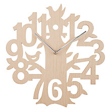 Buy John Lewis Wooden Tree Clock, Natural Online at johnlewis.com