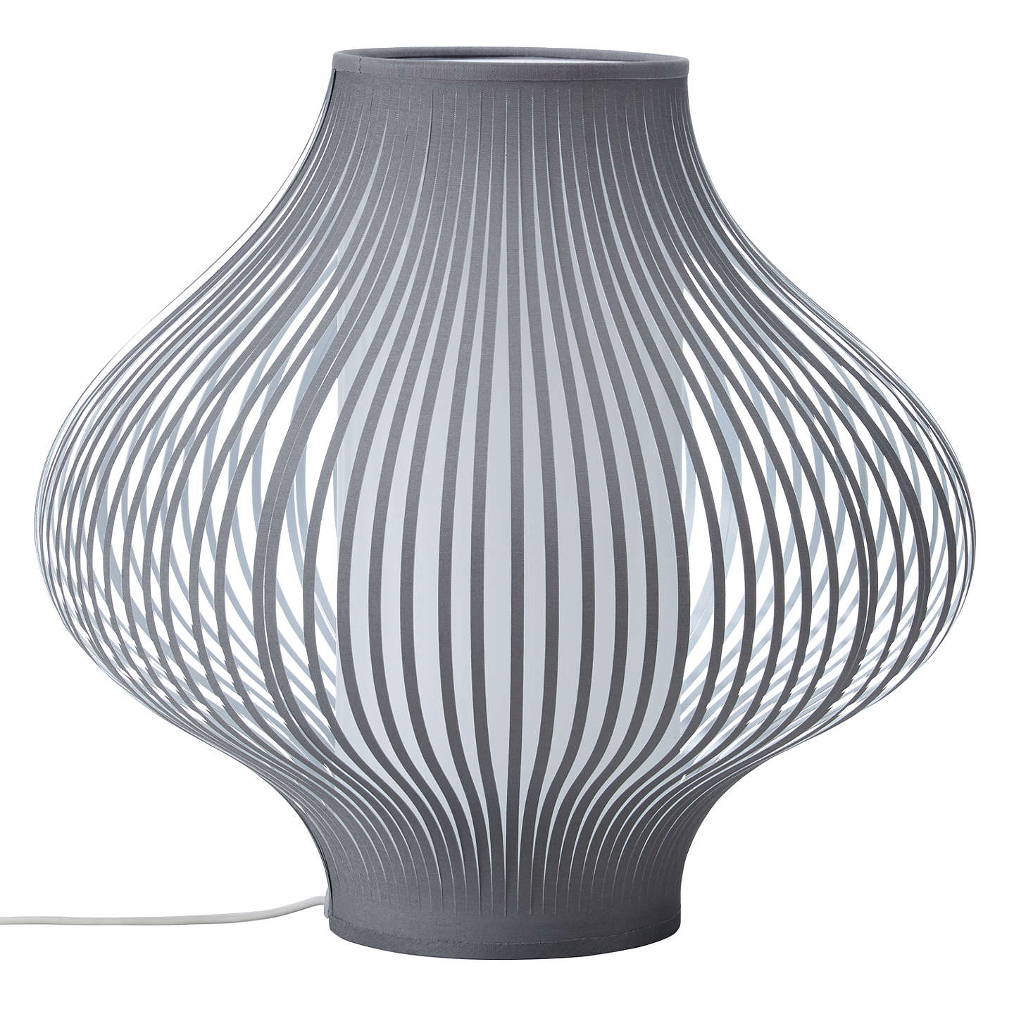BuyJohn Lewis Harmony Ribbon Table Lamp, Grey, Small Online at johnlewis.com