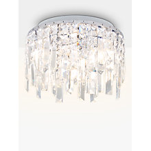 Buy Illuminati Sophia Crystal Small Bathroom Light, Crystal Clear Online at johnlewis.com