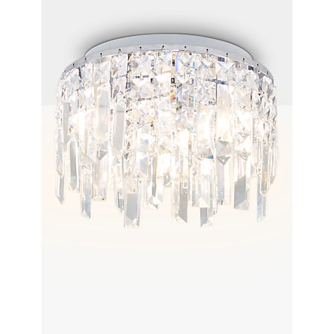 Bathroom Lights John Lewis buy illuminati sophia crystal small bathroom light, crystal clear