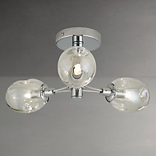 Buy John Lewis Carlo Bubbles Bathroom Light, 3 Arm, Clear/Chrome Online at johnlewis.com