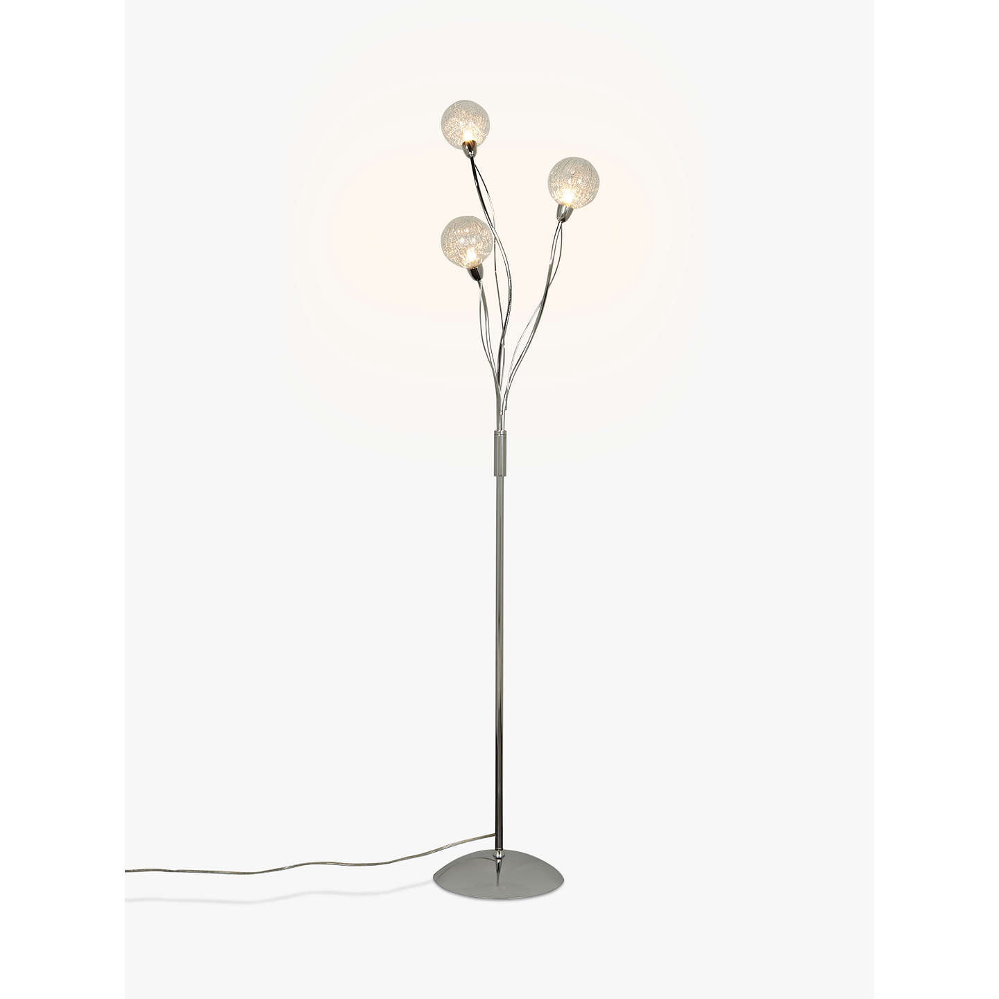 John lewis robertson floor lamp 3 light clear at john lewis buyjohn lewis robertson floor lamp 3 light clear online at johnlewis mozeypictures Choice Image