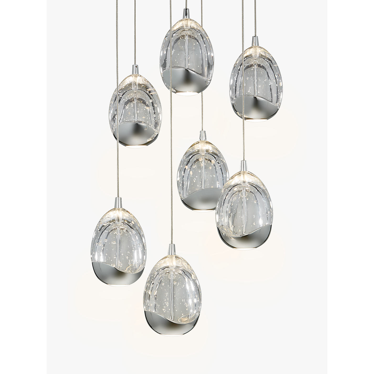 Buy john lewis droplet led pendant ceiling light 7 light chrome buy john lewis droplet led pendant ceiling light 7 light chrome online at johnlewis aloadofball Gallery
