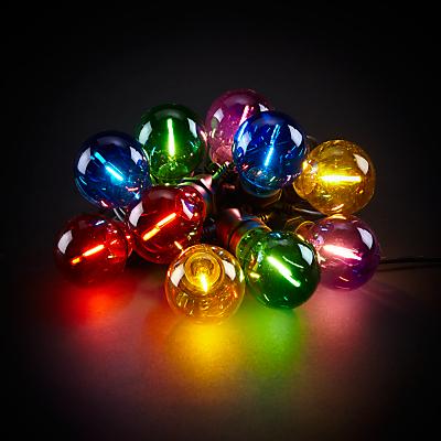 John Lewis Festoon Outdoor Coloured Line Lights, Multi