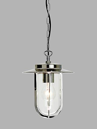 Astro Montparnasse Outdoor Pendant Porch Light, Polished Nickel
