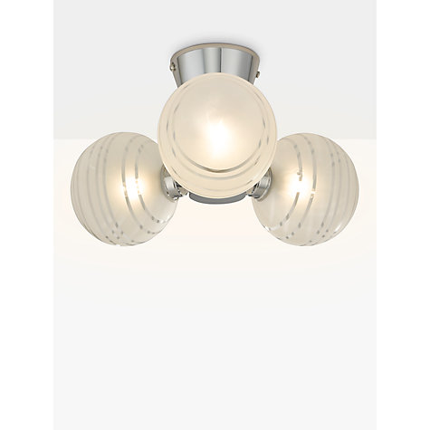 buy john lewis liam 3 ball lined glass flush bathroom light clearchrome online