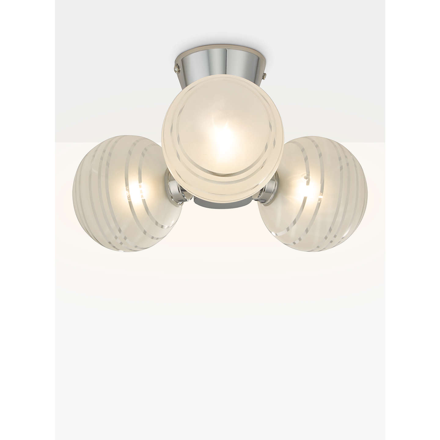 John lewis liam 3 ball lined glass flush bathroom light clear buyjohn lewis liam 3 ball lined glass flush bathroom light clearchrome online at aloadofball Gallery