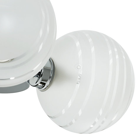 Bathroom Lights John Lewis buy john lewis liam 3 ball lined glass flush bathroom light, clear