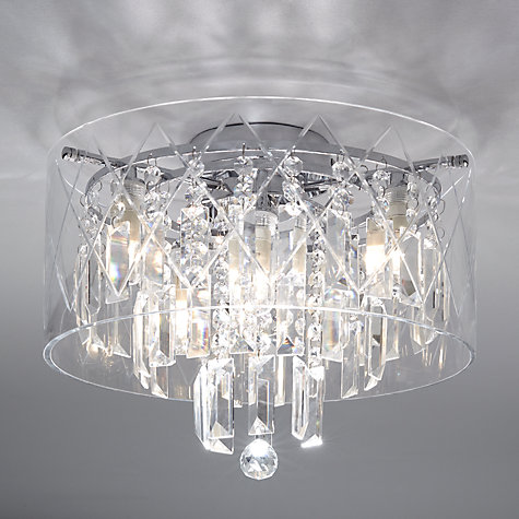 Bathroom Lights John Lewis buy illuminati sophia crystal large bathroom light, crystal clear