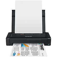 Buy Epson WorkForce WF-100 Portable Wireless Printer, Black Online at johnlewis.com