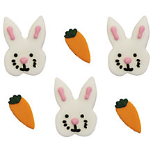 Buy Creative Party Bunny and Carrot Cake Toppers Online at johnlewis.com