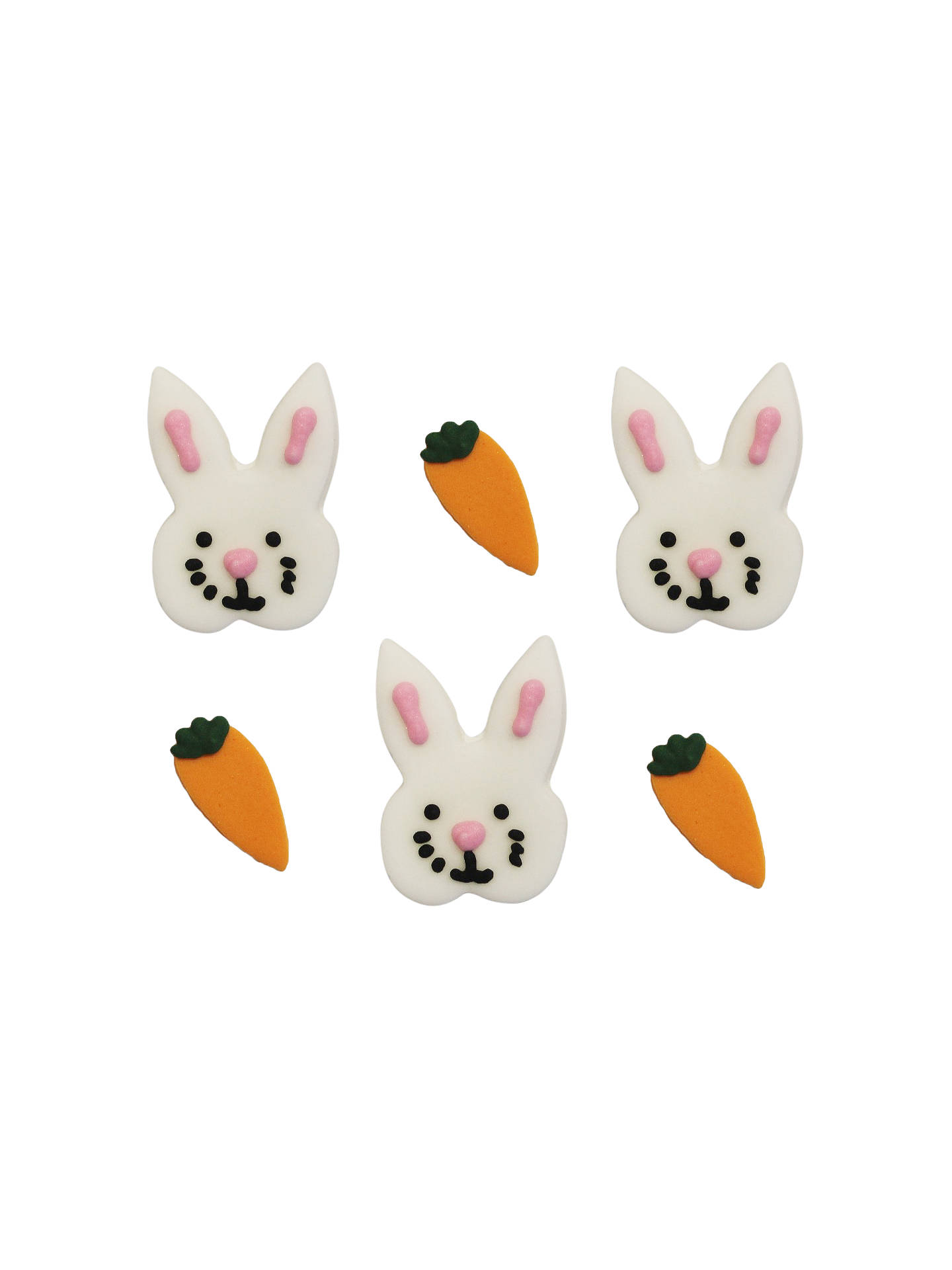 Creative Party Bunny and Carrot Cake Toppers at John Lewis
