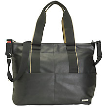 Buy Storksak Eden Vegan Leather Changing Bag, Black Online at johnlewis.com