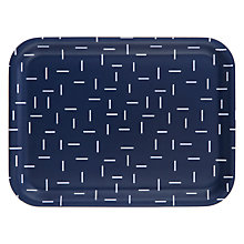 Buy House by John Lewis Geometric Tray, Navy Online at johnlewis.com