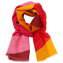 Buy John Lewis Colour Block Chevron Scarf, Poppy Red/Multi Online at johnlewis.com