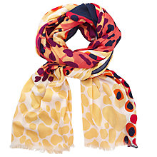 Buy John Lewis Large Cheeta Print Cotton Twill Scarf, Multi Online at johnlewis.com