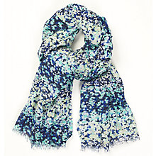 Buy John Lewis Ditsy Stripe Print Scarf, Navy/Mint Online at johnlewis.com