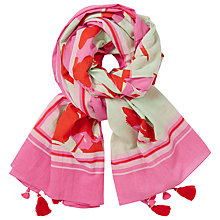 Buy John Lewis Abstract Flower Tassel Scarf, Pink Mix Online at johnlewis.com