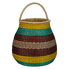 Buy John Lewis Dakara Stripe Basket with Handle Online at johnlewis.com