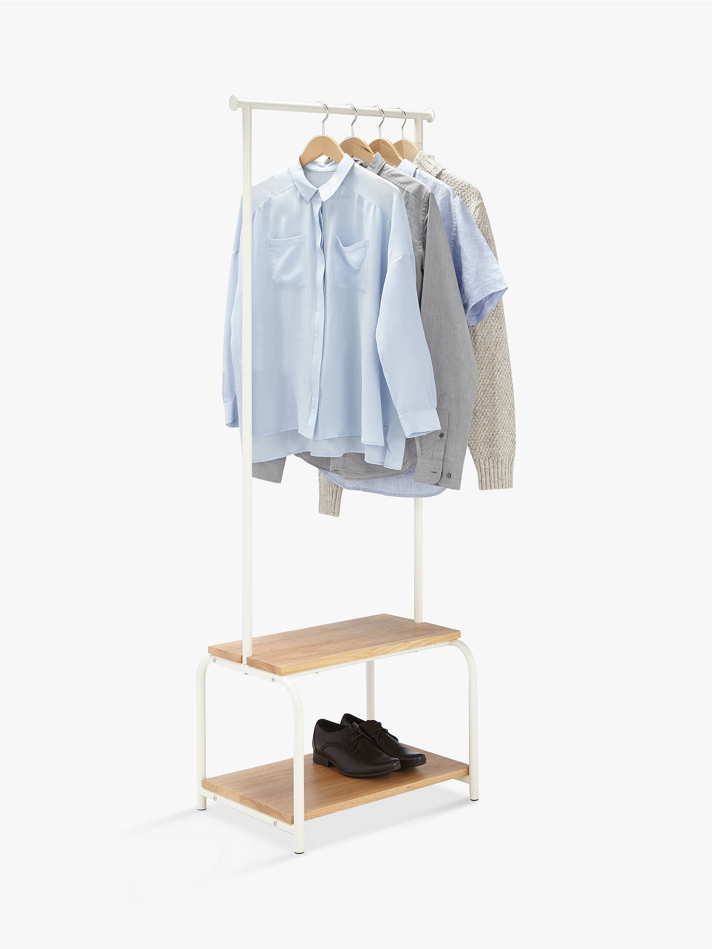 Buy House by John Lewis Slimline Clothes Rail, White Online at johnlewis.com
